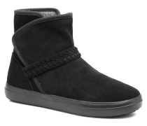 Lodge Point Suede Bootie W Stiefeletten & Boots in schwarz
