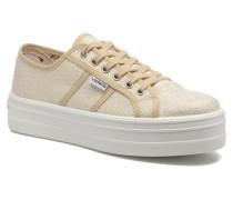 Basket Tejido Lurex Sneaker in goldinbronze