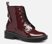 ONLBOLD LACE UP PATENT BOOTIE 15184270 Stiefeletten & Boots in weinrot