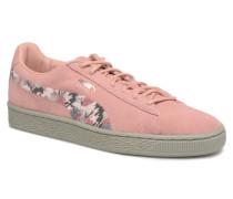 B Suede Sunfade Stitch Wn's Sneaker in rosa