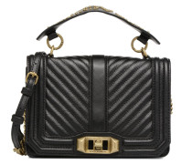 Small Love Crossbody Handtasche in schwarz