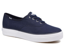 Triple Peacoat Sneaker in blau