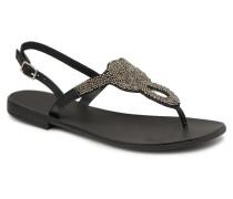 Carmen leather sandal Sandalen in schwarz