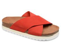 Lisa Leather Sandal Clogs & Pantoletten in rot