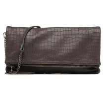 Léonie croco Mini Bag in grau