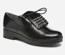 Dinhel Schnürschuhe in schwarz