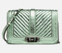 CHEVRON QUILTED SMALL LOVE CRO Handtasche in grün