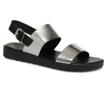 LEATHER SANDAL Sandalen in silber