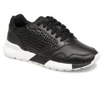 Omega X W Woven Sneaker in schwarz