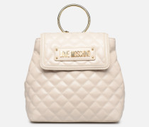 NEW SHINY QUILTED BACKPACK Rucksäcke in beige