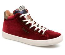 STARK SEQUINS Sneaker in weinrot