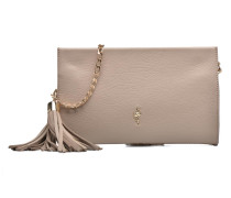 Pochette grainée pompon Mini Bag in beige