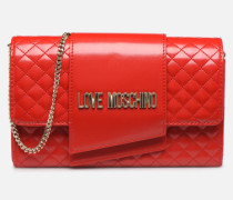 NEW SHINY QUILTED Handtasche in rot