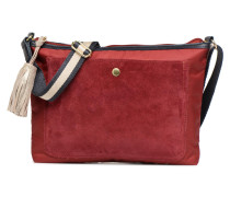 MAT & SHINY LINE MINI BAG Handtasche in weinrot