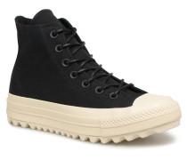 Chuck Taylor All Star Lift Ripple Canvas Hi Sneaker in schwarz