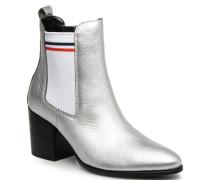 SOCK SHINY MID HEEL CHELSEA BOOT Stiefeletten & Boots in silber