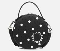 KARL DOTS ROUND CROSSBODY Handtasche in schwarz