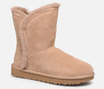 Classic Short Fluff HighLow Stiefeletten & Boots in beige