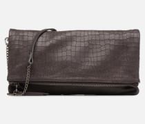 Léonie croco Mini Bag in grau