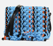 PIANTI Knotted Shoulderbag Handtasche in blau