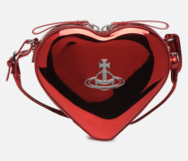 Heart Crossbody Bag Handtasche in rot