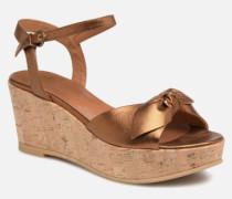 Ariel Ankle Metal Milled Sandalen in goldinbronze