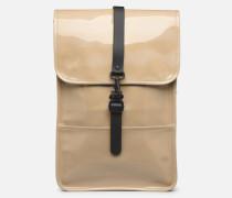 Holographic Backpack Mini Rucksäcke in beige