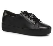 Poppy Lace Up Sneaker in schwarz