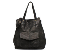 Gunn Suede Bag Handtasche in schwarz