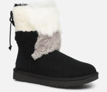 W Classic Short Patchwork Stiefeletten & Boots in schwarz