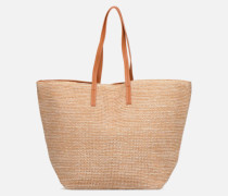 Ilana Shopper Beach Handtasche in beige