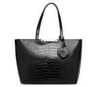 Britta Tote Zip Handtasche in schwarz