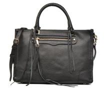 Regan Satchel Tote Handtasche in schwarz