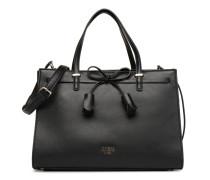Leila Satchel Handtasche in schwarz