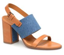 Sandale à talon bold denim Sandalen in braun