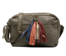 Izza Leather Crossbody Handtasche in grün