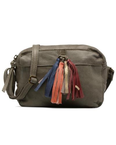 Izza Leather Crossbody Handtasche in grün