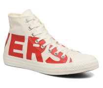 Chuck Taylor All Star Wordmark Hi Sneaker in weiß