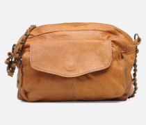 Naina Leather Crossover Handtasche in braun