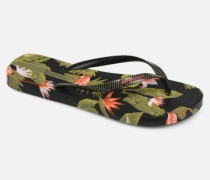 I Love Tropical Zehensandalen in schwarz