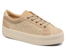 Plato Bridge Straw Sneaker in beige