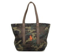 PP TOTE CANVAS Handtasche in grün