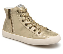 Clinton combi Sneaker in goldinbronze