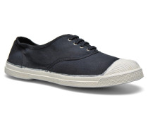 Tennis Lacets Sneaker in schwarz