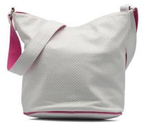 Seau Perforé Handtasche in weiß
