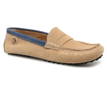 Palm Suede Slipper in beige