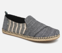 Deconstructed Alpargata Rope Espadrilles in grau