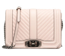 CHEVRON QUILTED SMALL LOVE CRO Handtasche in rosa