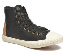 Levi's White tab sneaker Hi Sneaker in schwarz