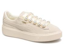 Platform Bling Wns Sneaker in beige